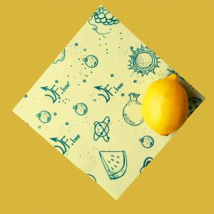 Маленькая восковая салфетка для хранения лимона